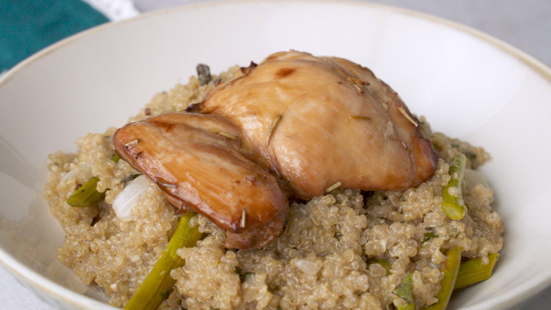 Rosemary Chicken and Asparagus Quinoa Recipe